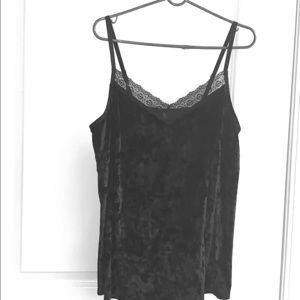 2+ $10 Cacique 18 20 ladies black velvet camisole